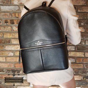 Kate SPADE LARGE karina Backpack Bookbag BLACK
